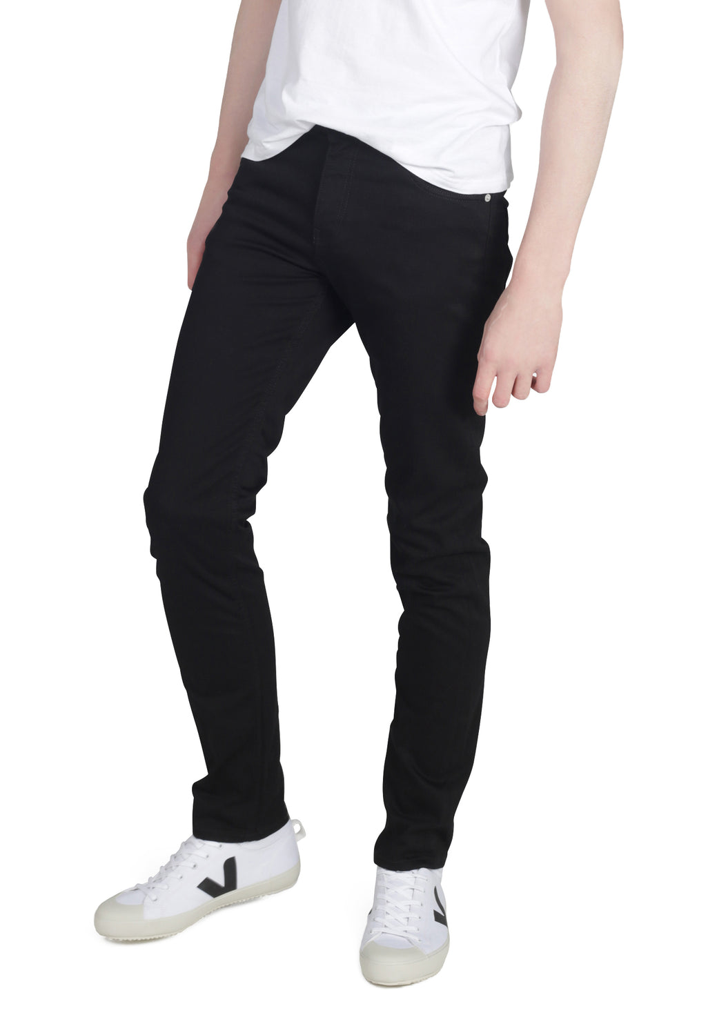 DEAN // Recycled Organic Flex Slim Fit Jeans in Black Jet - Monkee Genes Organic Jeans Denim - Organic Flex Men's Jeans Monkee Genes Official  Monkee Genes Official