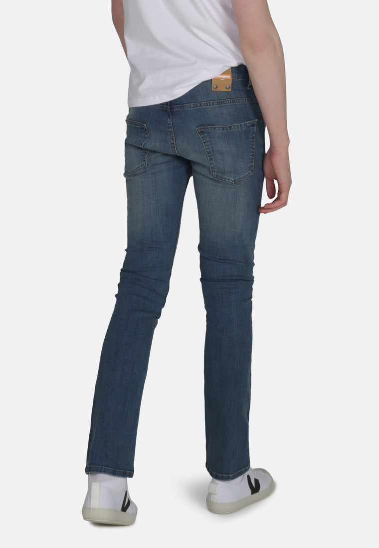 DEAN // Organic Slim Fit Jeans in Mid Wash