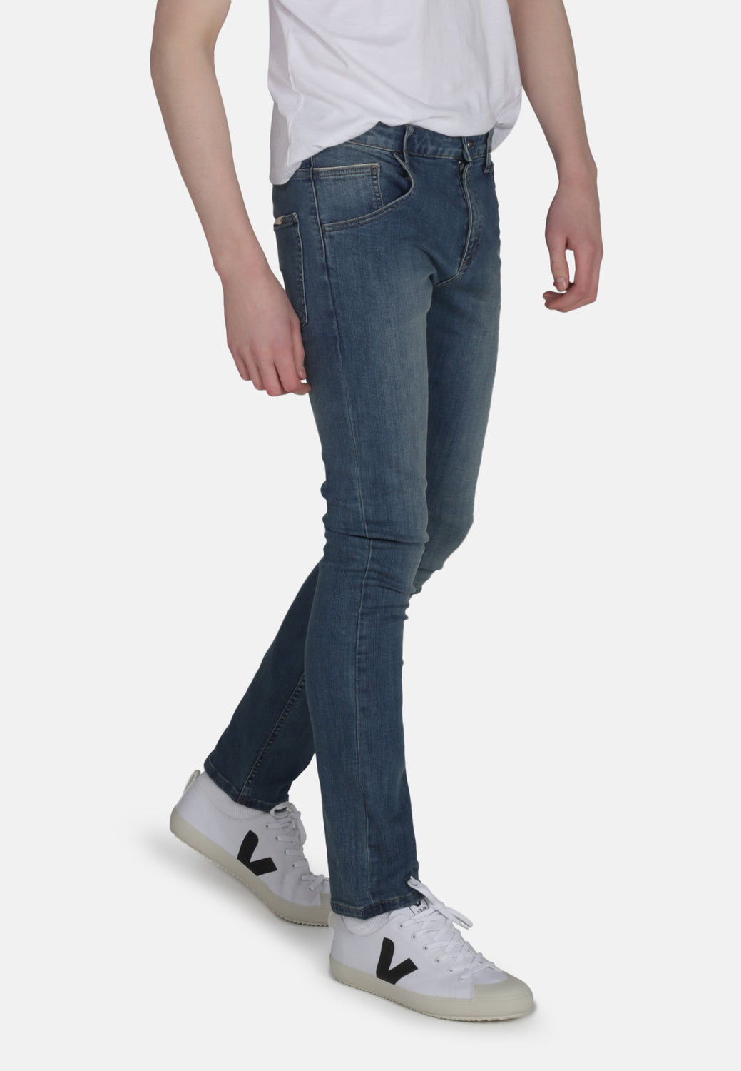 DEAN // Organic Slim Fit Jeans in Mid Wash - Monkee Genes Organic Jeans Denim - Men's Slim Fit Monkee Genes Official  Monkee Genes Official