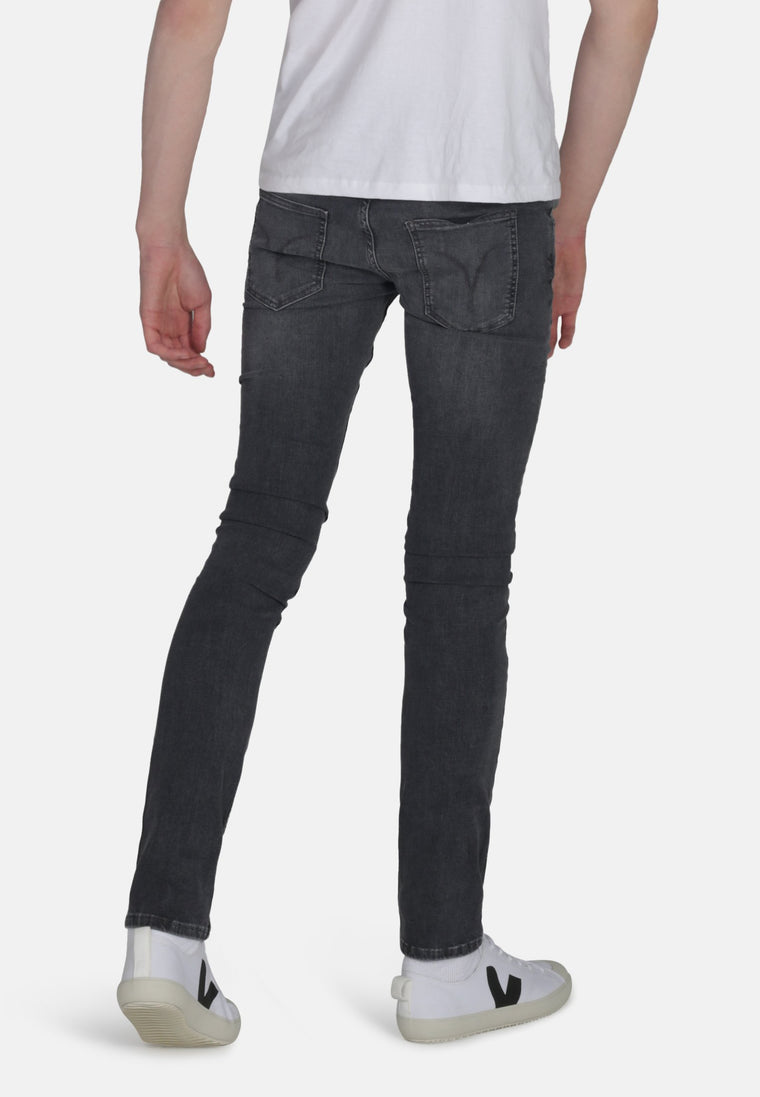 DEAN // Organic Flex Slim Fit Jeans in Grey Wash