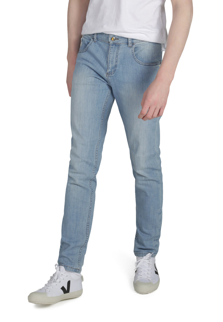 DEAN // Organic Slim Fit Jeans in Light Wash - Monkee Genes Organic Jeans Denim - Men's Slim Fit Monkee Genes Official  Monkee Genes Official