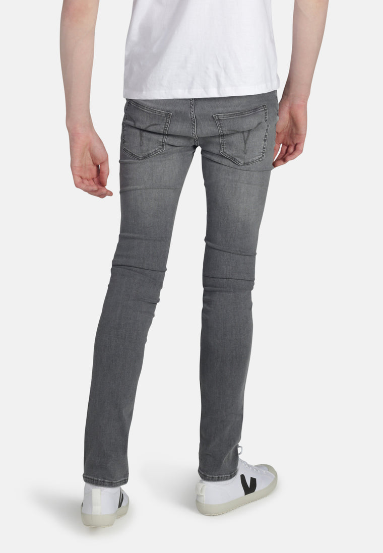 DEAN // Organic Flex Slim Fit Jeans in Light Grey Wash