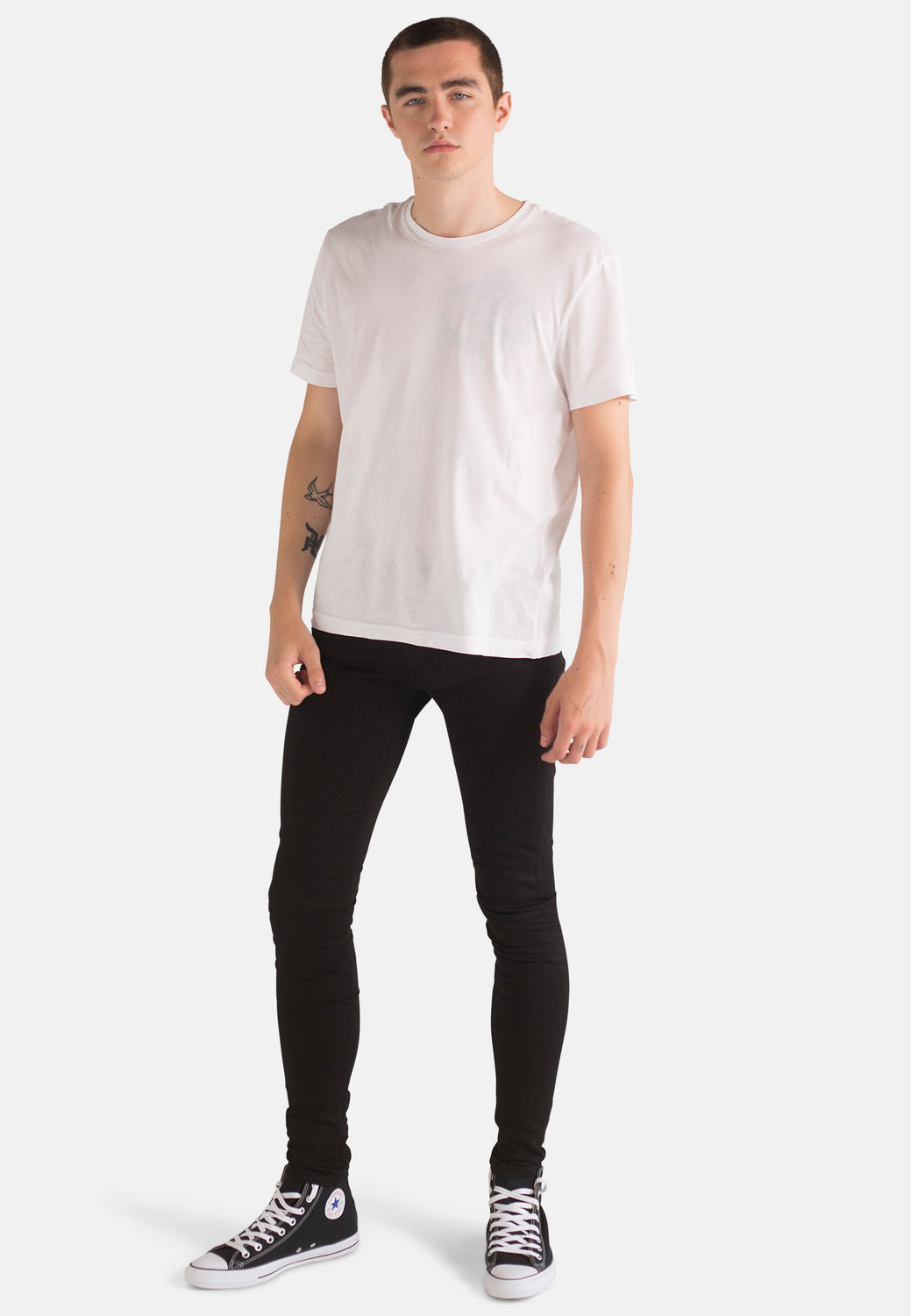 Organic Black Denim Super Skinny Jeans - Monkee Genes Organic Jeans Denim - Men's Silhouette Monkee Genes Official  Monkee Genes Official