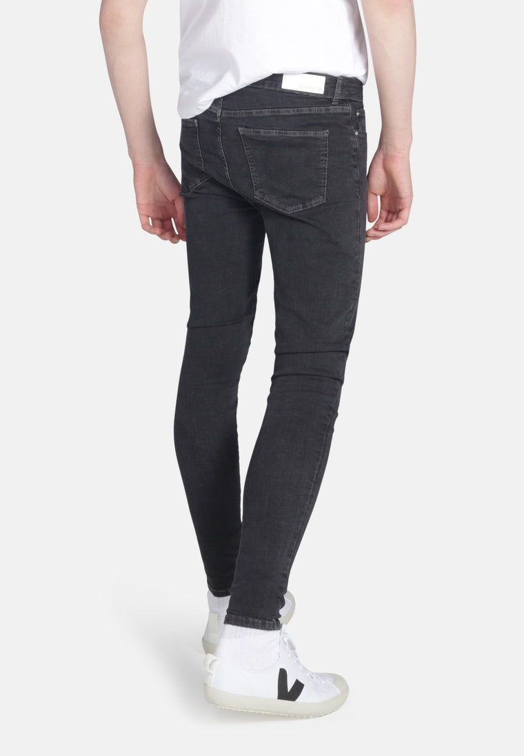 CODY // Organic Super Skinny Mid Rise Jeans in Dark Grey Eco Wash