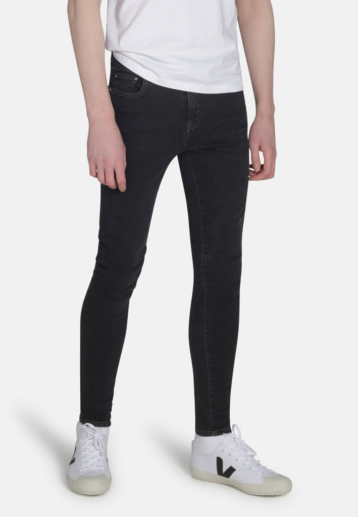 CODY // Organic Super Skinny Mid Rise Jeans in Dark Grey Eco Wash - Monkee Genes Organic Jeans Denim - Men's Cody Monkee Genes Official  Monkee Genes Official