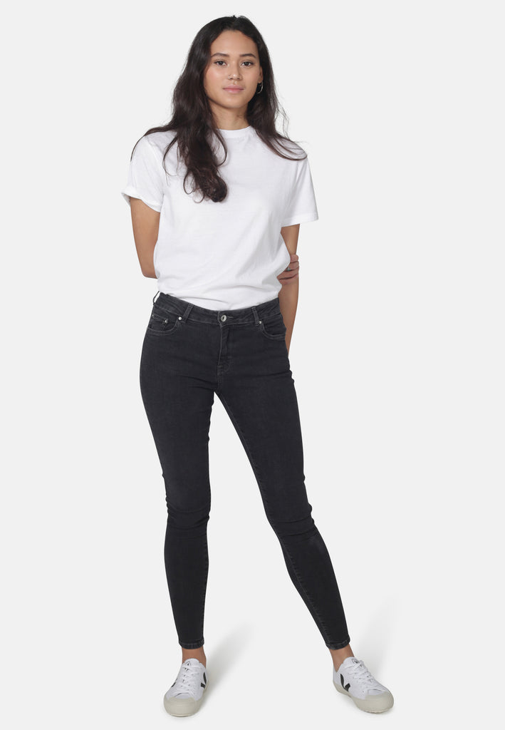 CODY // Organic Super Skinny Mid Waist Jeans in Dark Grey Eco Wash - Monkee Genes Organic Jeans Denim - Women's Cody Monkee Genes Official  Monkee Genes Official