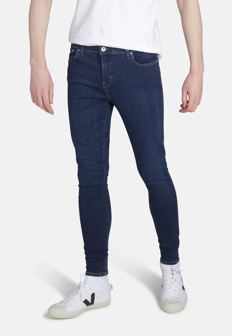CODY // Organic Super Skinny Mid Rise Jeans in Dark Eco Wash