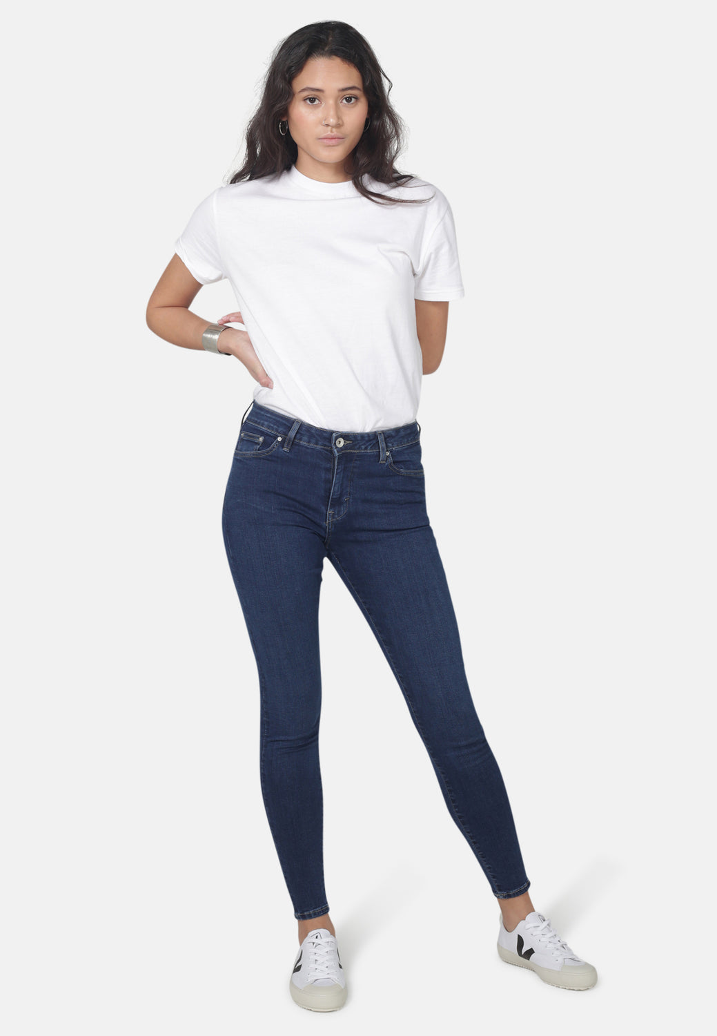 CODY // Organic Super Skinny Mid Waist Jeans in Dark Eco Wash - Monkee Genes Organic Jeans Denim - Women's Cody Monkee Genes Official  Monkee Genes Official