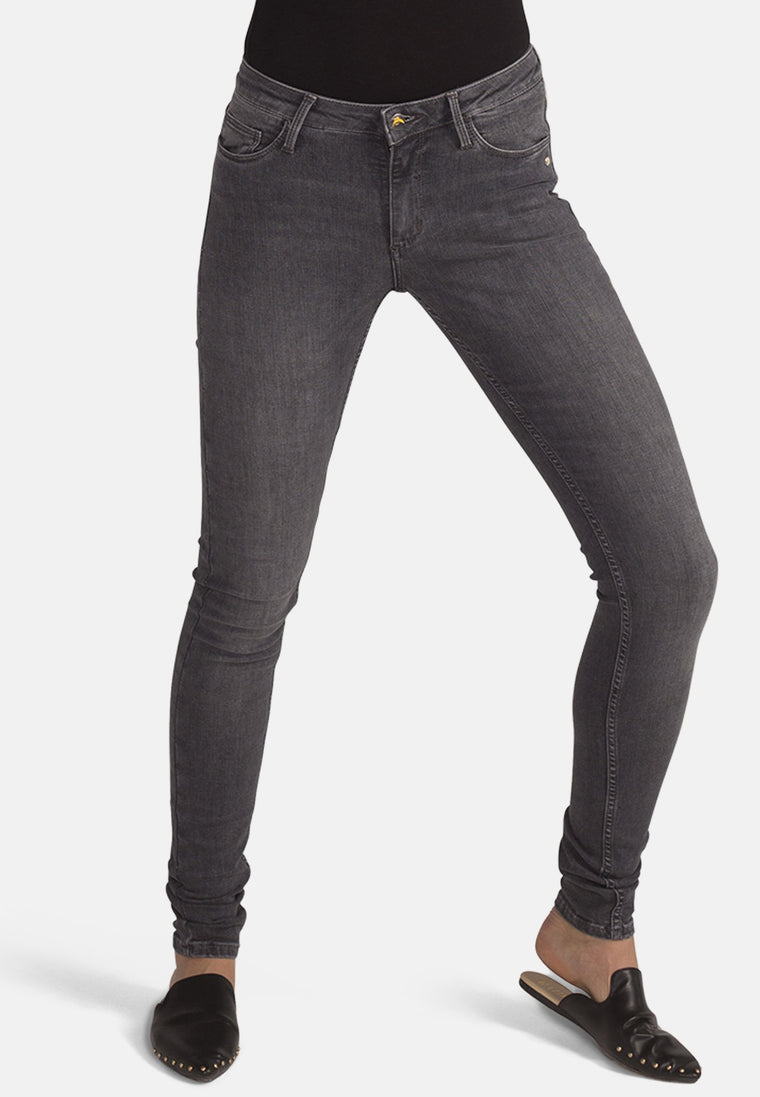 CODY // Organic Flex Super Skinny Mid Waist Jeans in Grey