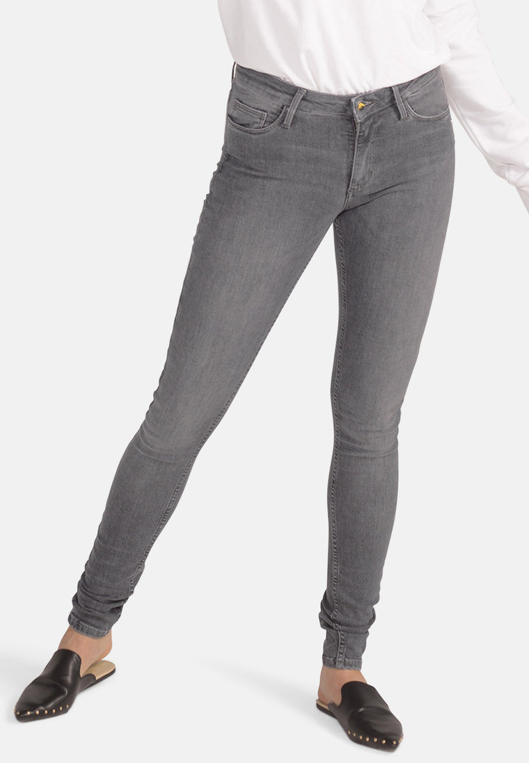 CODY // Organic Flex Super Skinny Mid Waist Jeans in Light Grey