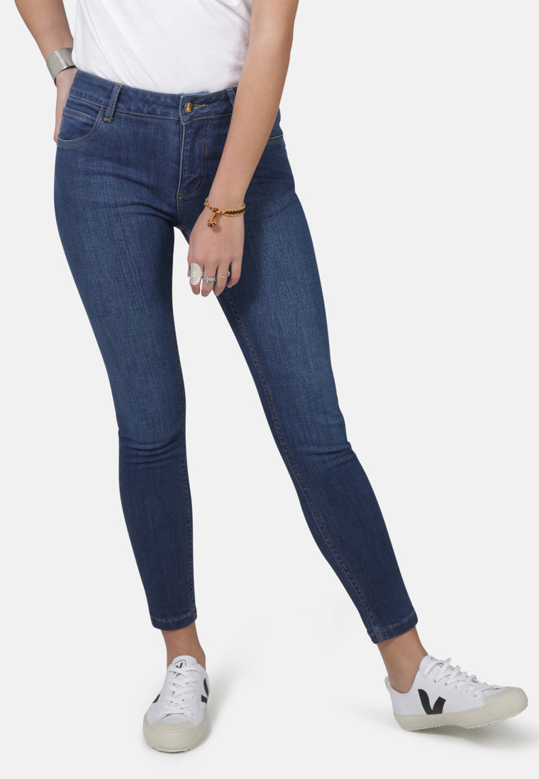 MONROE // Organic Super Skinny Ankle Grazer Jeans in Dark Wash