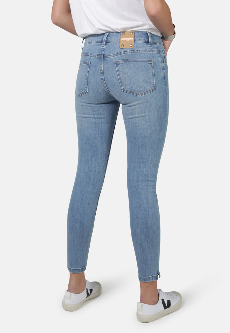 MONROE // Organic Super Skinny Ankle Grazer Jeans in Light Wash