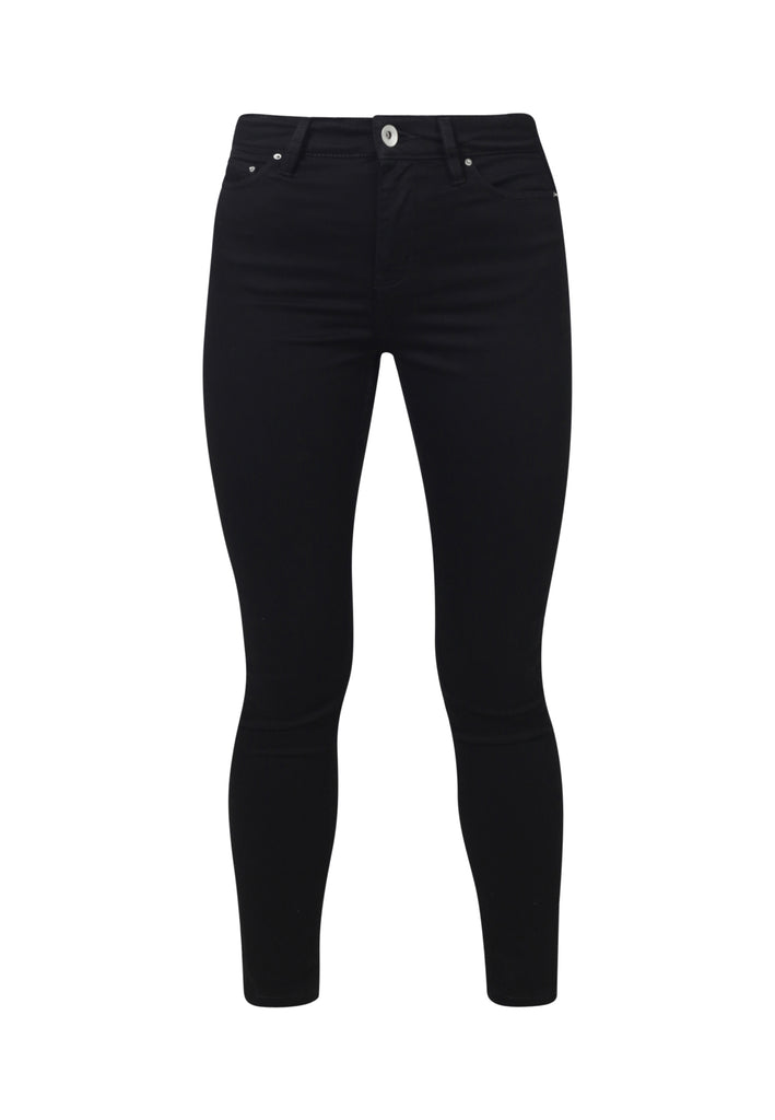 Recycled Organic Flex Black Jet Denim Jane High Waisted Super Skinny Fit Jeans - Monkee Genes Organic Jeans Denim - Organic Flex Women's Jeans Monkee Genes Official  Monkee Genes Official