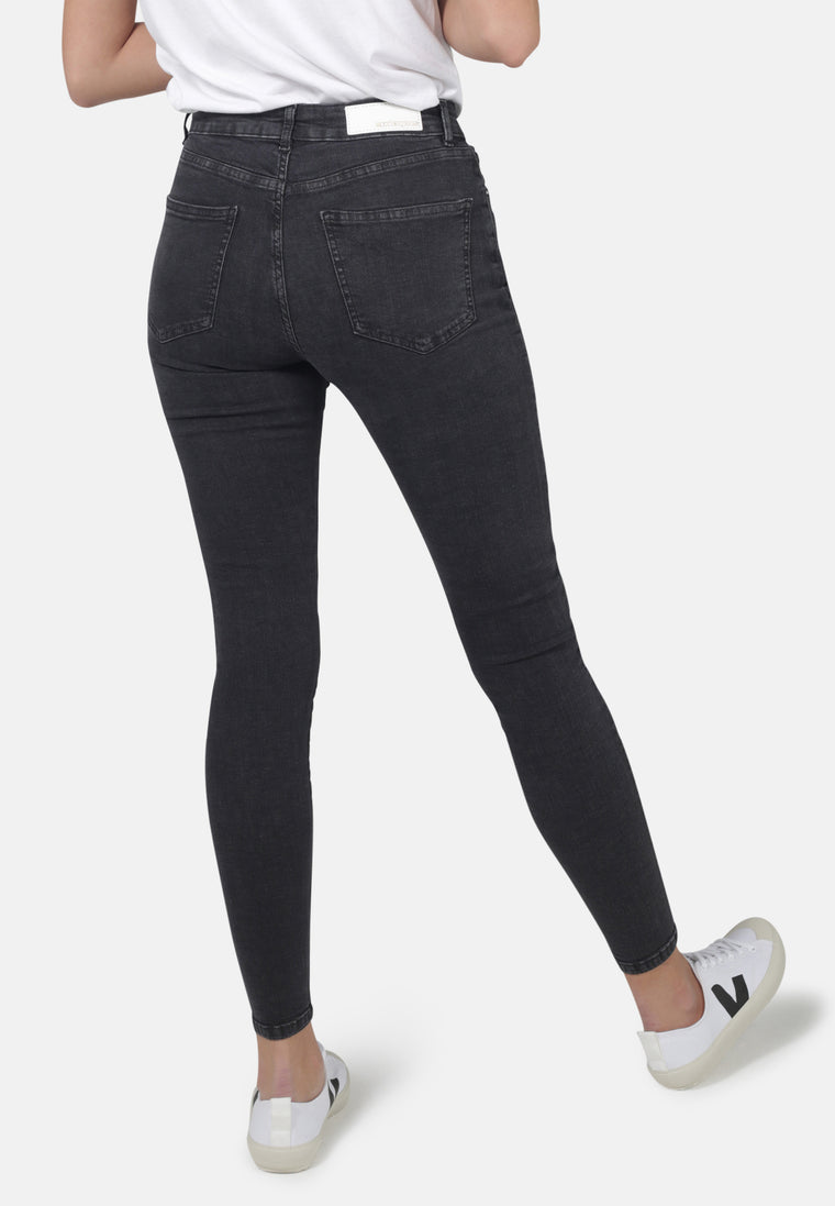 JANE // Organic Super Skinny High Waist Jeans in Dark Grey Eco Wash