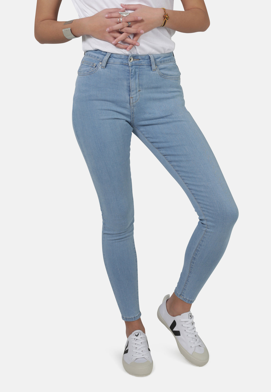 JANE // Organic Super Skinny High Waist Jeans in Light Blue Eco Wash - Monkee Genes Organic Jeans Denim - Women's Super Skinny Monkee Genes Official  Monkee Genes Official