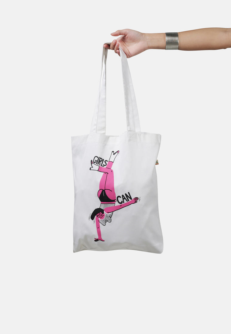 Organic Cotton Girls Can Artist Collaboration Bag for Life