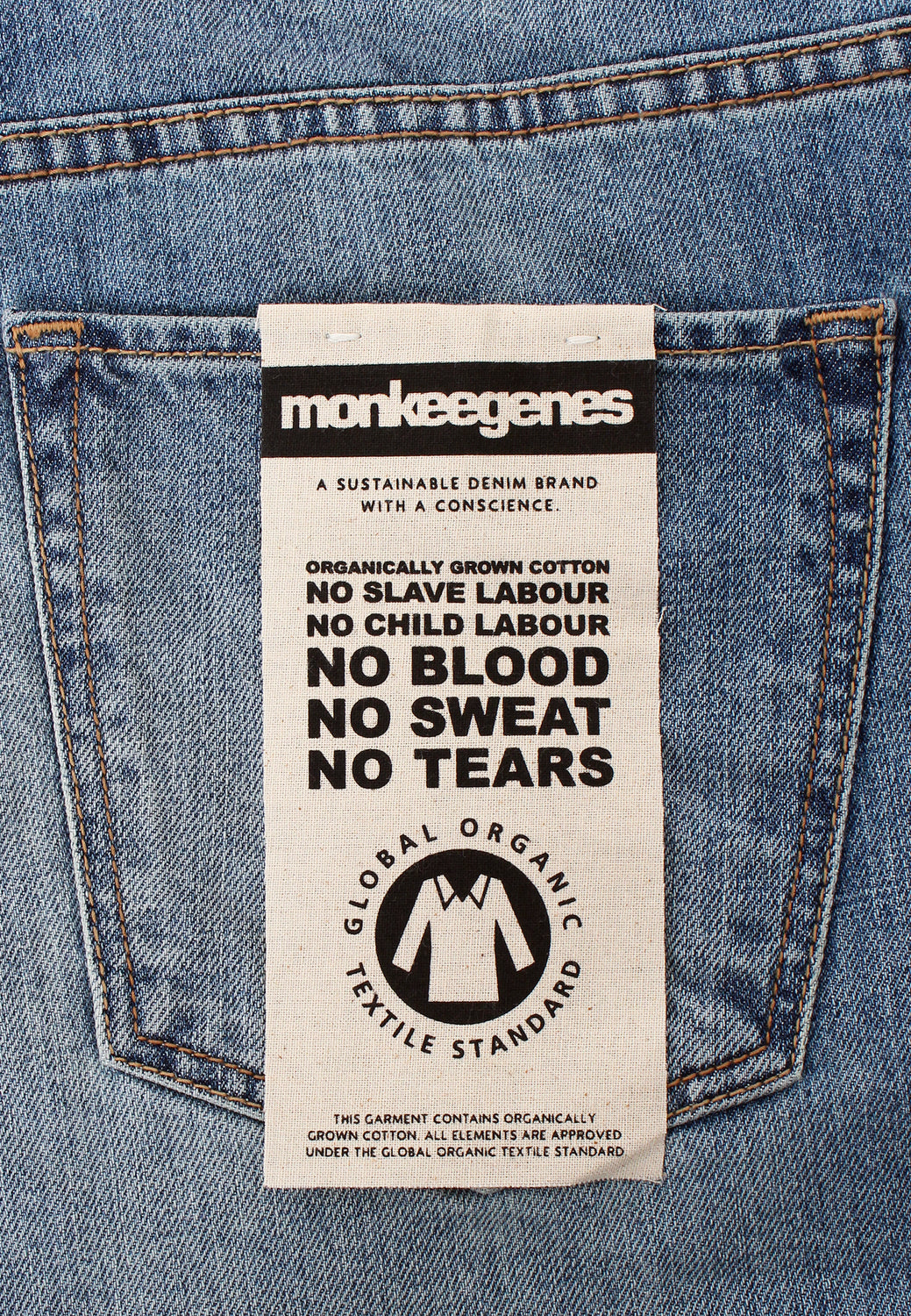 Jack Tapered Fit Organic Jeans in Light Wash - Monkee Genes Organic Jeans Denim - Men's Tapered Monkee Genes Official  Monkee Genes Official