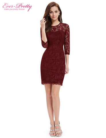 Cocktail Dresses Special Occasion Women Long Sleeve Slim Fit  Dresses - BOUTIQUEKOM