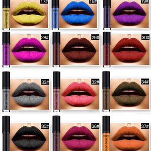 New Long Lasting Pigment Full Lips Matte Liquid Lipstick Kits Makeup