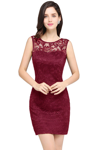 Cocktail Dresses  2018 O-Neck Sleeveless Lady Mini Party Dresses - BOUTIQUEKOM