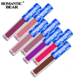 Matte Lipstick Beauty Batom Romantic Bear Brand Long Lasting Lipstick