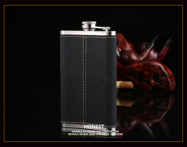 hip flask set man portable hip flask with gift box