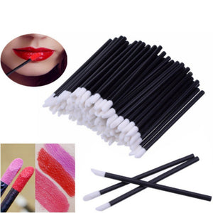 50Pcs Disposable Cosmetic Lip Brush Pen Lipstick  Mascara Wands Brush Cleaner