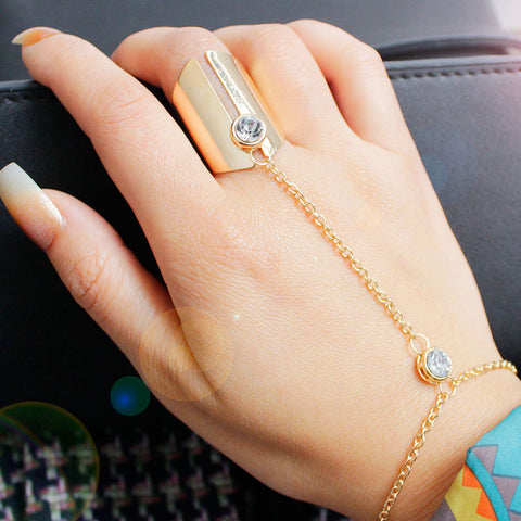Zinc Alloy Plated Chain Links Ring - BOUTIQUEKOM
