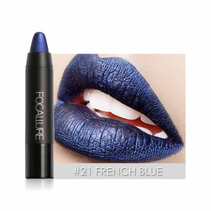New Color Shimmer Metallic Lips Matte Lipstick Pencils