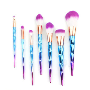 7/12Pcs Diamond Shape Makeup Brushes Set Beauty Cosmetic