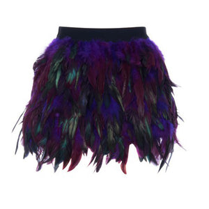 Fashion Luxury Feather Short Skirt 2018 Female New Design - BOUTIQUEKOM