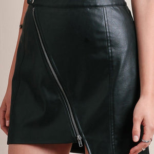 Punk Women Pencil Skirt 2018 Zipper Button Classic Mini Skirts - BOUTIQUEKOM