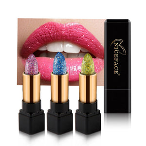 Luxury Discolor Diamond Lipstick Glitter Waterproof Shiny Temperature Change