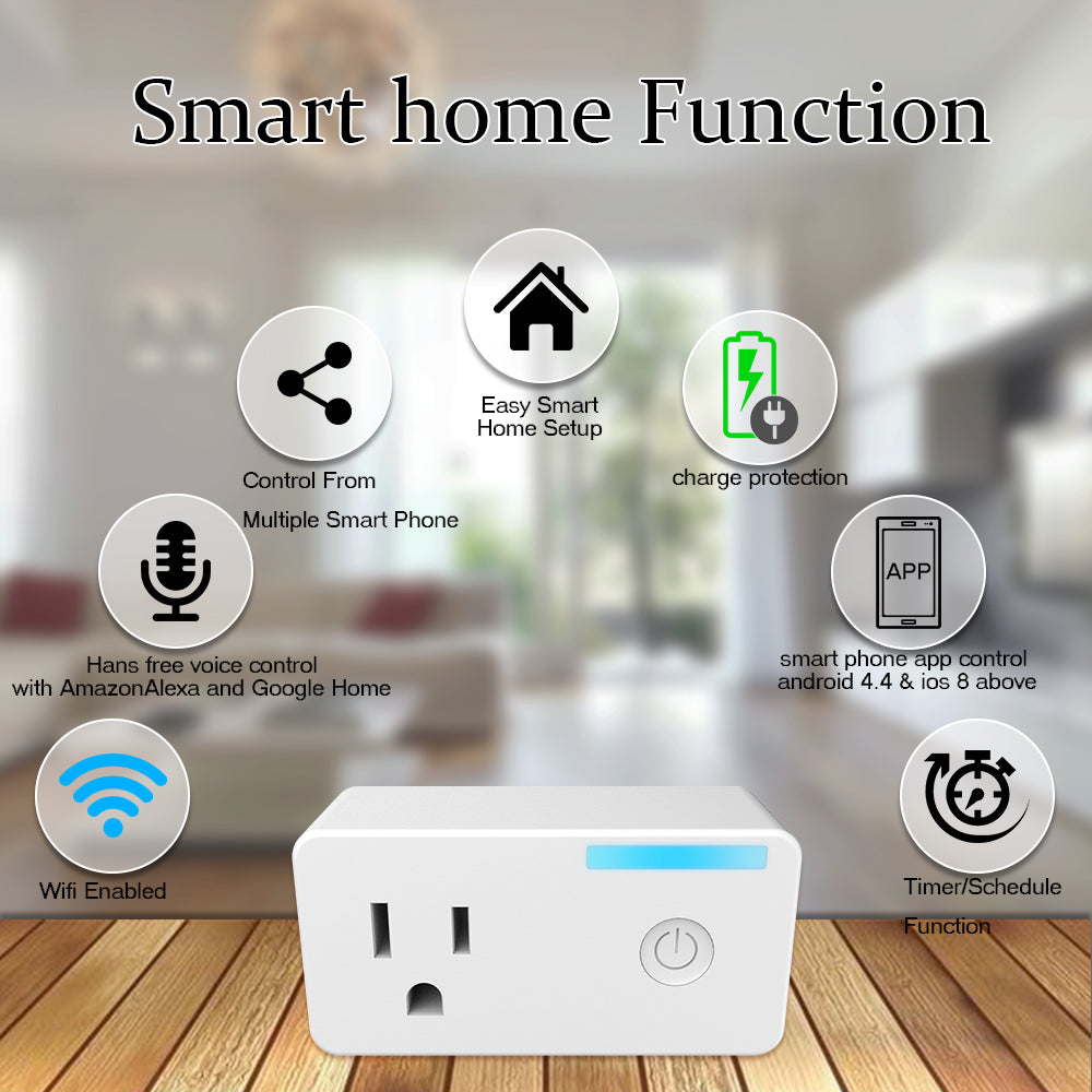 TMRLIFE [2 PACK] WiFi Smart Plug, Wireless Socket Home Electrical Timi