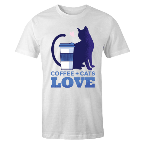coffee and cat shirt