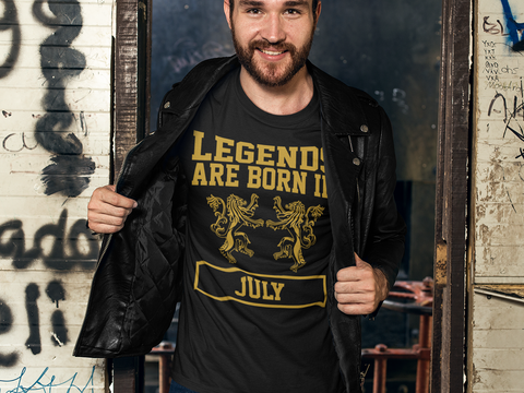 legends are born in july shirt