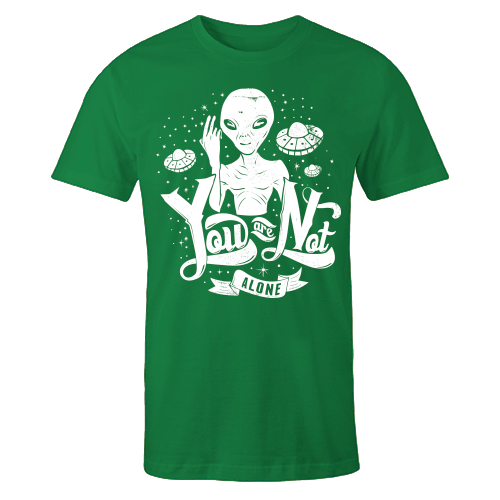 Space Alone Green Cotton Shirt