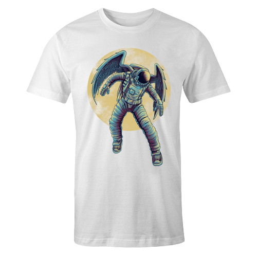 Astro Moon Sublimation White Dryfit Shirt