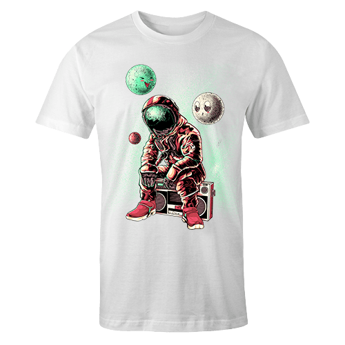 Astro DJ Sublimation White Dryfit Shirt