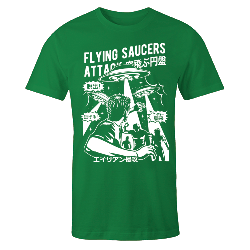 Space Saucer Green Cotton Shirt