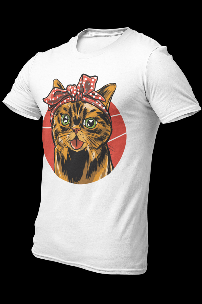 Bandana Cat Sublimation Dryfit Shirt