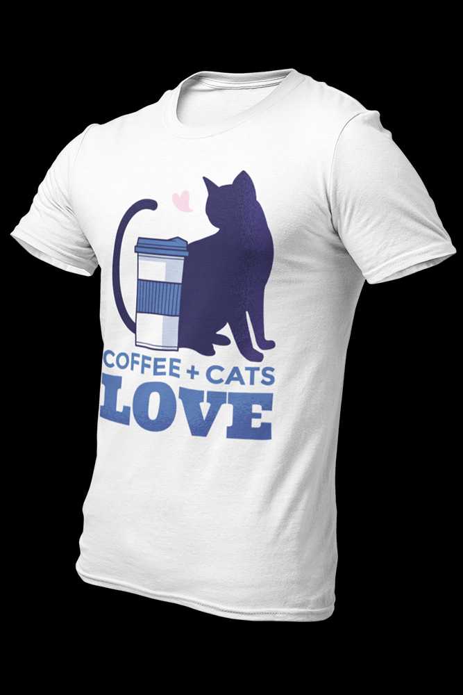 Coffee and Cats Sublimation Dryfit Shirt