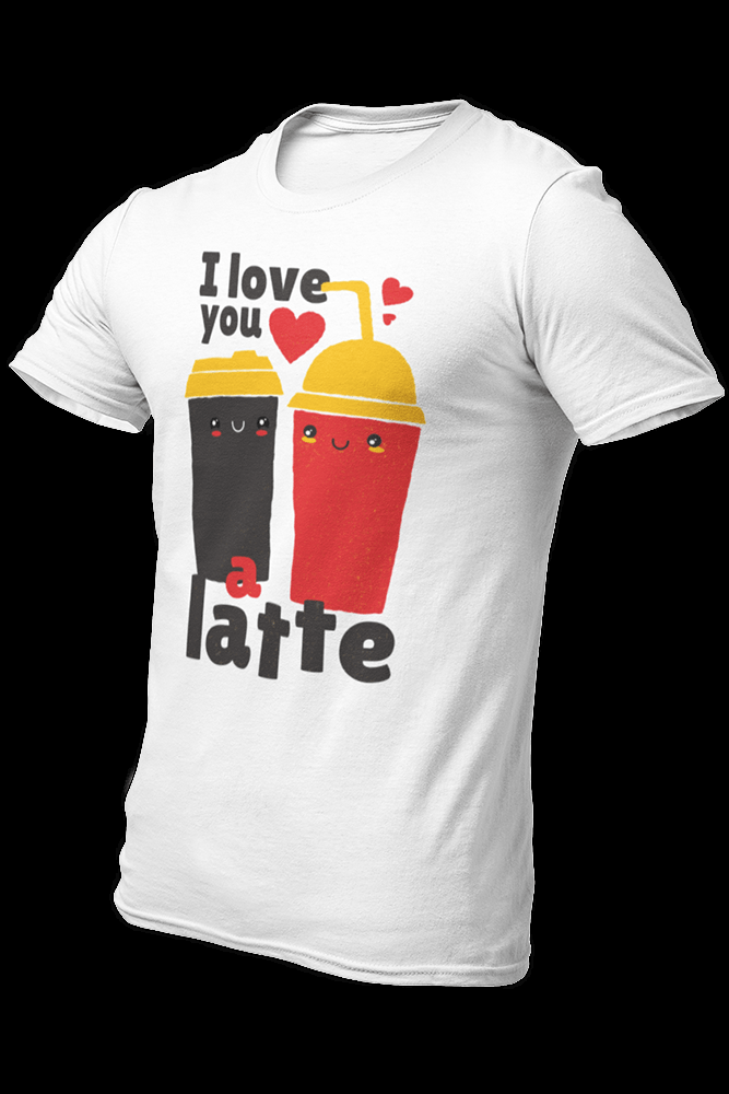 Love You a Latte Sublimation Dryfit Shirt