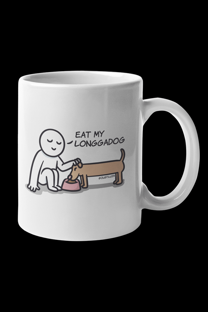 Longadog Sublimation White Mug