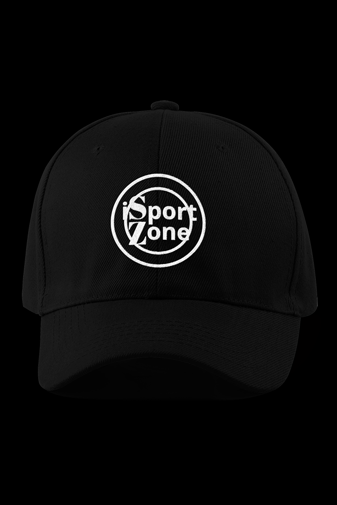 iSportZone Black Embroidered Cap