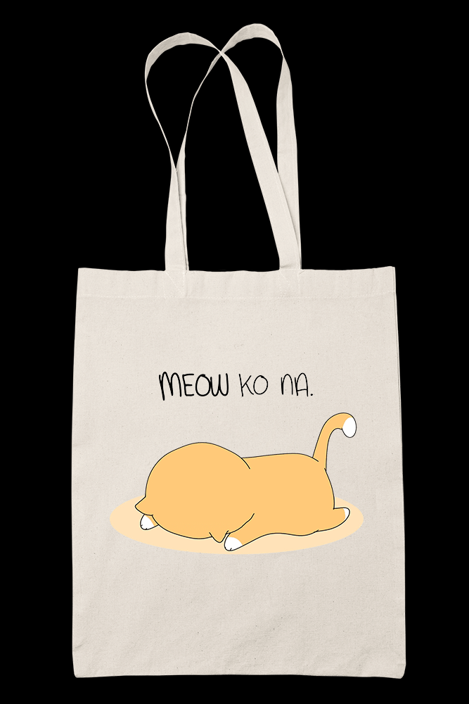 Meow Ko Na Sublimation Canvass Tote Bag