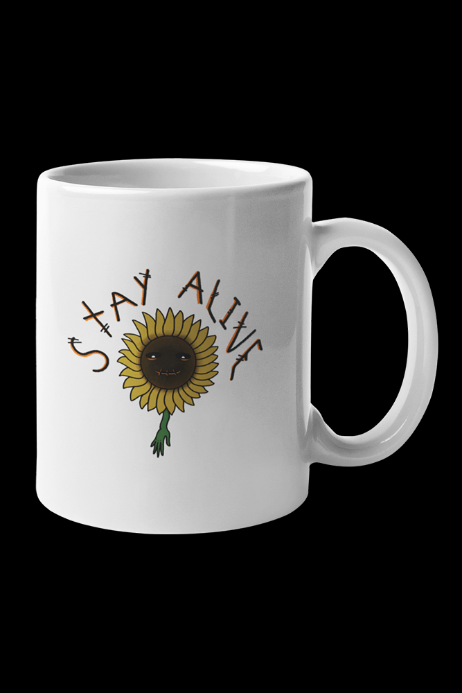 Stay alive Sublimation White Mug