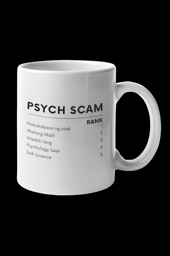 Psych Scam Sublimation White Mug
