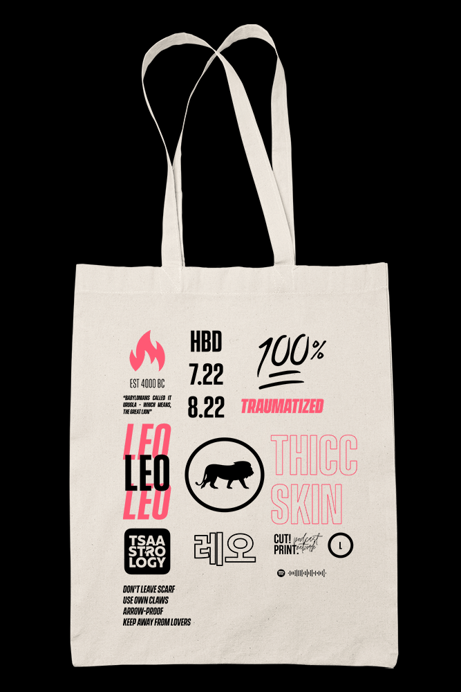 Leo Sublimation Canvass Tote Bag