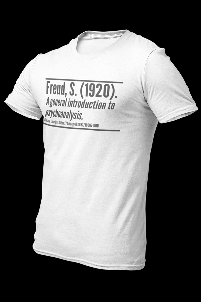 freud citation white Cotton Shirt